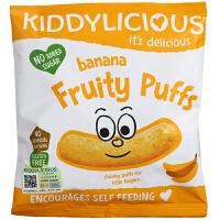 英国童之味kiddylicious香蕉水果泡芙天然营养婴幼儿零食宝宝泡芙