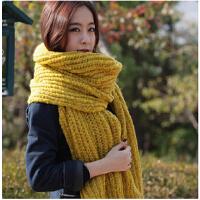女士粗毛线围脖 女 冬天 新款情侣加厚围巾韩国 韩版秋冬围巾