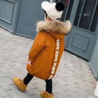 儿童棉衣外套2018新款冬装男童羽绒中长款宝宝洋气棉袄韩版潮