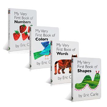 英文原版 Eric Carle My Very First Library我的一个图书馆4册入门纸板书艾瑞·卡尔爷爷经典英语启蒙书籍color words shapes