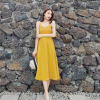 普吉岛沙滩裙女夏2019新款海边度假套装红色连衣裙泰国旅游裙子仙
