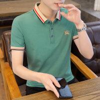 POLO短袖 2021夏季新款男款韩版潮流衬衫领POLO衫短袖 162男装