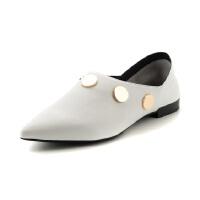星期六春秋英伦风平底低跟休闲时尚尖头女单鞋SS81111186
