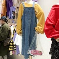 韩版青春减龄宽松显瘦牛仔背带连衣裙 Z 优旦