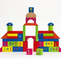 拼插积木制桶装智力动手儿童玩具早教益智木制玩具