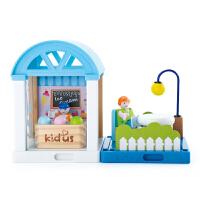 冰激凌店早教拼插拼装积木房子男女孩娃娃屋儿童过家家玩具