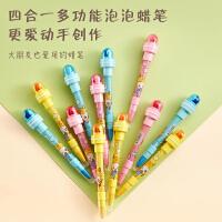 网红泡泡笔灯光滚轮印章可爱多功能铅笔多功能少女儿童泡泡笔公主