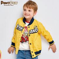 【3件3折 到手价:209】Pawinpaw卡通小熊童装童休闲棒球服小童上衣外套夹克潮