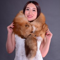 狐狸毛围巾女款季整张皮披肩加厚保暖 整只狐狸围脖皮毛一体