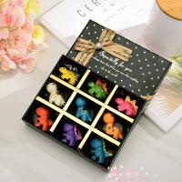 创意可爱小恐龙DIY手工巧克力qkl送小朋友圣诞儿童节生日礼盒包邮