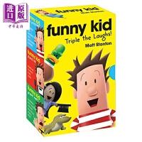 【中商原版】搞怪小孩三部曲 Funny Kid Triple the Laughs! (Books 1-3) 礼品套装