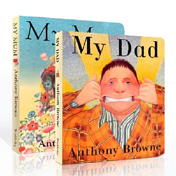 英文原版进口绘本 My Dad My Mum 我的爸爸妈妈纸板书家庭关系情商管理2册 安东尼布朗 Anthony Browne 3-6岁英语童书
