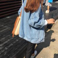 牛仔外套女春秋季2018新款韩版bf宽松学生原宿上衣薄夹克短外套潮
