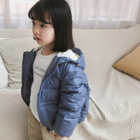 新款儿童羽绒服轻薄款男童女童白鸭绒连帽外套婴儿宝宝秋冬季衣服