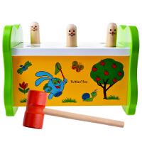 亲子儿童互动游戏 敲打益智智力玩具 1-2-3岁宝宝木制打地鼠玩具