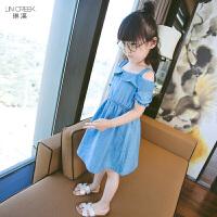 童装女童2018夏装新款牛仔吊带儿童连衣裙女孩韩版公主裙时尚薄款