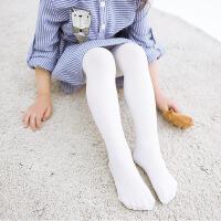 【春夏钜惠 满199-110】包邮春季薄款儿童连裤袜白色学生舞蹈袜高弹打底裤纯色袜子