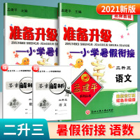 孟建平准备升级暑假衔接二升三语文数学人教版二年级暑假作业