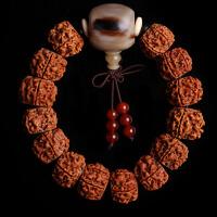 金刚菩提子手串 肉纹藏式打磨五瓣男士单圈佛珠手链礼物