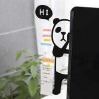 韩国文具透明便利贴板.便签贴板 可爱电脑屏幕显示器侧边留言板.