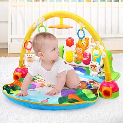 优乐恩 新生婴儿音乐健身架脚踏钢琴 宝宝游戏垫摇铃牙胶儿童玩具益智玩具限时钜惠