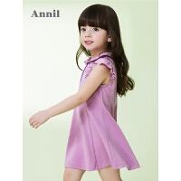 【3件3折:50.7】安奈儿童装女童时尚修身无袖连衣裙夏装新款