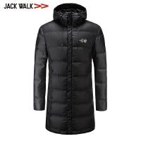 【满300减30】拉夏贝尔男装Jackwalk长款羽绒服冬季新品连帽休闲羽绒外套男