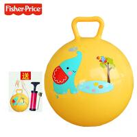 费雪儿童小皮球玩具球弹力球拍拍球类幼儿园专用宝宝婴儿篮球3岁儿童节礼物