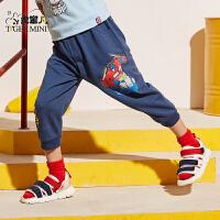 【2件3折到手价:62.7元】小虎宝儿童装男童纯棉七分裤2020夏季新款儿童短裤洋气韩版中大童