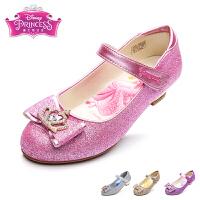 迪士尼灰姑娘浅口单鞋新款公主鞋儿童鞋皮鞋女童鞋学生鞋蝴蝶结女鞋【苏菲亚公主】【睡美人公主】【贝儿公主】【灰姑娘】