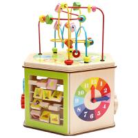 幼儿园大号绕珠百宝箱男女宝宝儿童智力木制玩具1-3-5-6周岁礼物