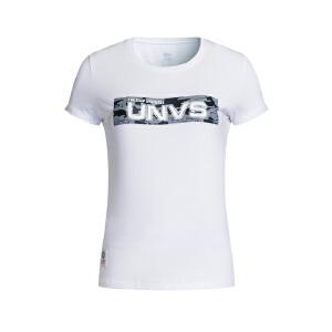特步女子休闲短袖夏季轻薄透气运动时尚针织舒适短T上衣883228019395
