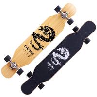儿童初学者长板四轮滑板青少年男孩女生刷街舞板4双翘滑板车