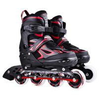 男童旱冰直排轮初学者闪光滑溜冰鞋儿童滑轮全套套装