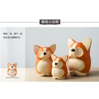 柯基熊鹿猫狐精致工艺品客厅摆件家居饰品