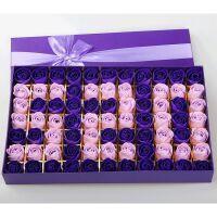 创意礼品520情人节100朵香皂玫瑰花礼盒肥皂花实用创意生日礼物教师节