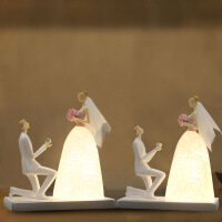 结婚礼物新婚庆送闺蜜朋友实用纪念日定制订婚房装饰礼品台灯摆件