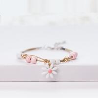 元气满满!原创日韩版手工民族风陶瓷花朵手链时尚流行小饰品