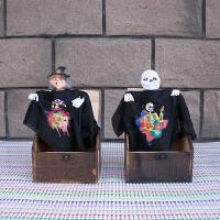 骷髅头黑衣人吓一跳整人玩具整蛊玩笑创意学生小礼品送男女同学朋友生日节日礼物SN8113