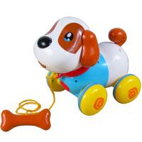 音乐拉线狗 机器狗玩具智能会叫的玩具音乐拉线狗电动小狗狗男女孩玩具狗