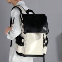 男士双肩包时尚潮流韩版个性背包大学生高中学生书包