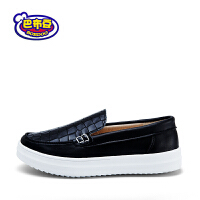 16cm~22cm巴布豆男童鞋男童皮鞋2016新款潮学生皮鞋男童豆豆鞋儿童鞋