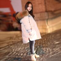 儿童羽绒服女童中长款2018新款韩版洋气中大童两面穿男童加厚外套
