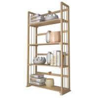[当当自营]慧乐家 书柜书架 四层书架层架 简约时尚木置物架 本色33002