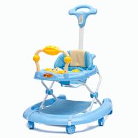 儿童学步车多功能fang侧翻手推可坐带音乐助步车6-18个月