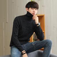 高领毛衣男士韩版针织衫秋冬季纯色线衣衫潮流男装长袖圆领打底衫