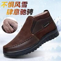 老北京布鞋男棉鞋冬季中老年爸爸鞋老人高帮父亲加绒防滑保暖男鞋