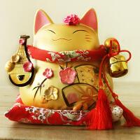 招财猫摆件金色大号可爱陶瓷装饰店铺开业创意礼品