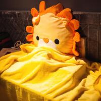 动物汽车抱枕被子两用靠垫腰靠枕午睡枕头空调毯子办公室沙发