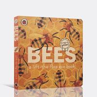 【全店300减100】英文原版进口翻翻书 蜜蜂 Bees: A lift-the-flap eco book 低幼启蒙探